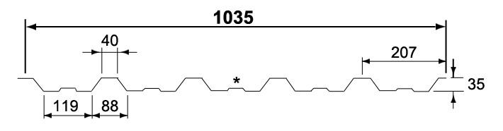 Dakprofiel 35/1035