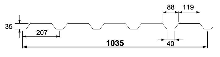 Wandprofiel 35/1035