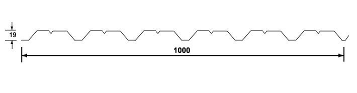 Wandprofiel 19/1000