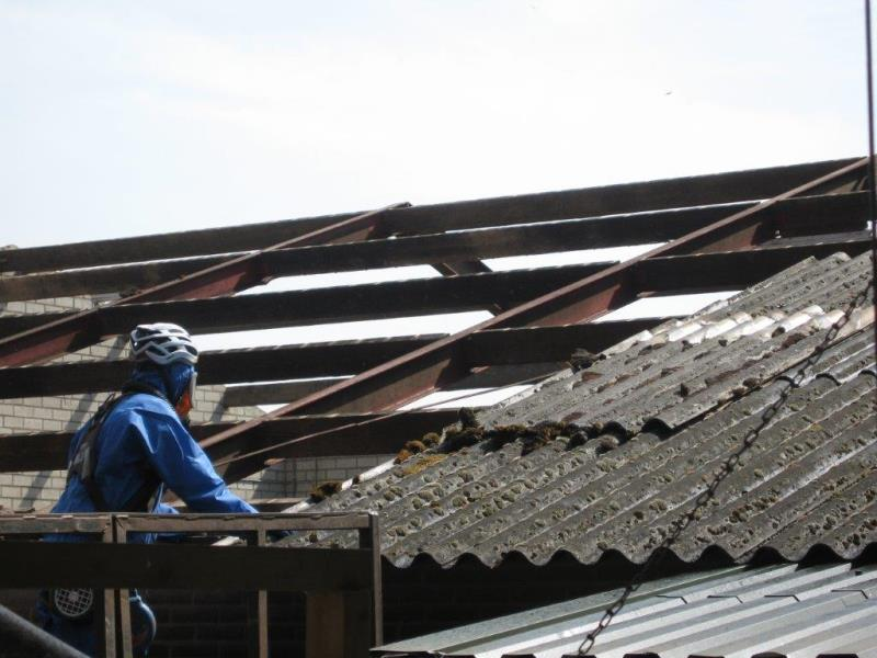 Asbest dak vervangen particulier